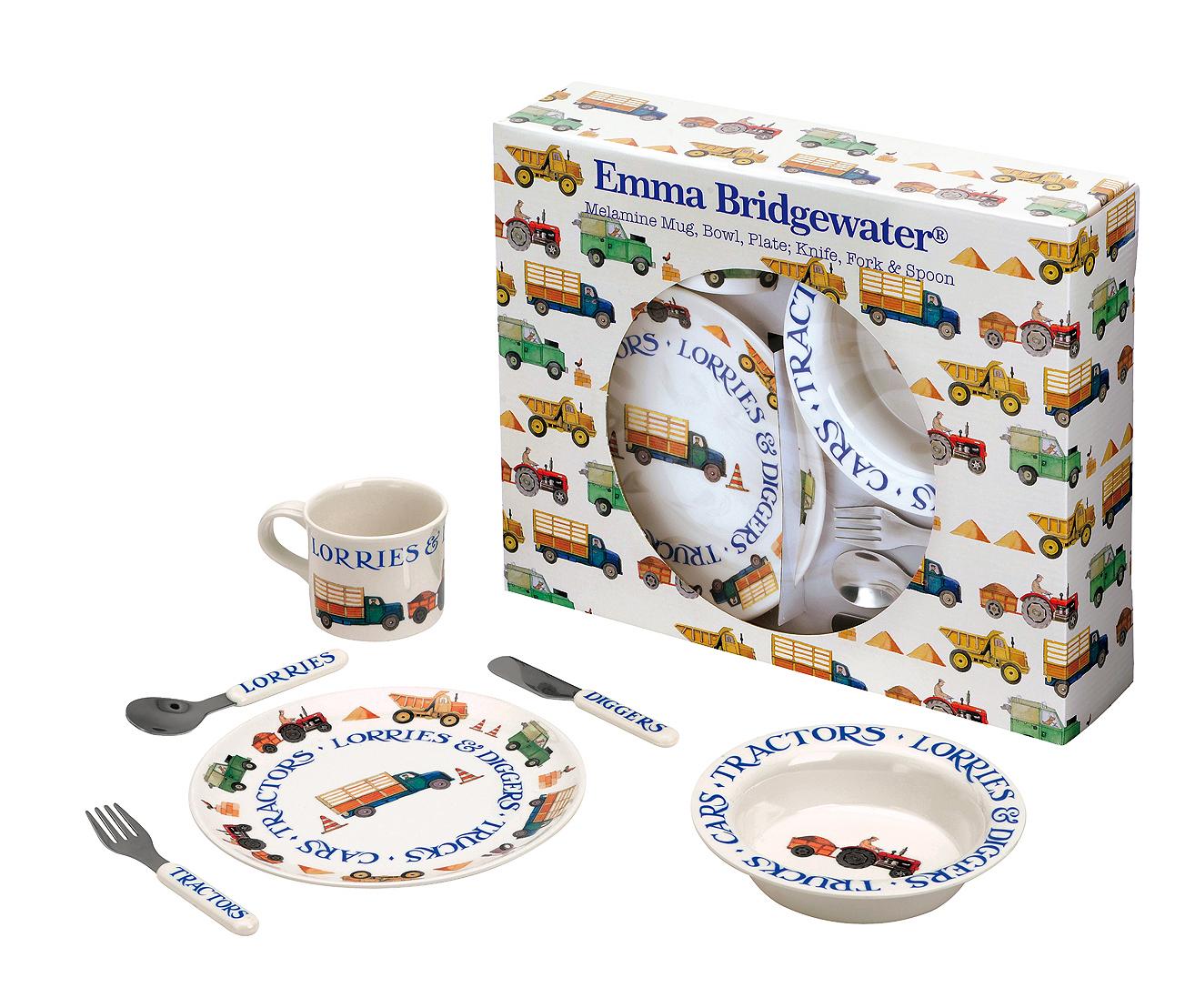Emma Bridgewater Men at Work 6 Piece Melamine Set  sc 1 st  FairyTales of Mumbles & Emma Bridgewater Men at Work 6 Piece Melamine Set - FairyTales of ...